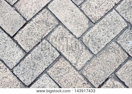 close up stone pavement block texture background