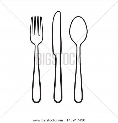 Fork spoon knife icon sign symbol isolated