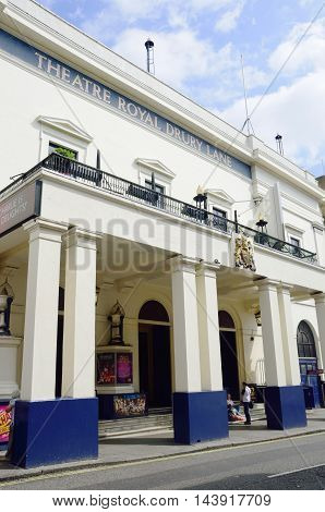 Covent Garden London England United Kingdom - August 16 2016: Historic THeatre Royal Drury Lane