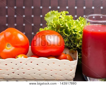 Rip Tomato Juice Represents Refreshing Drinking And Refreshment