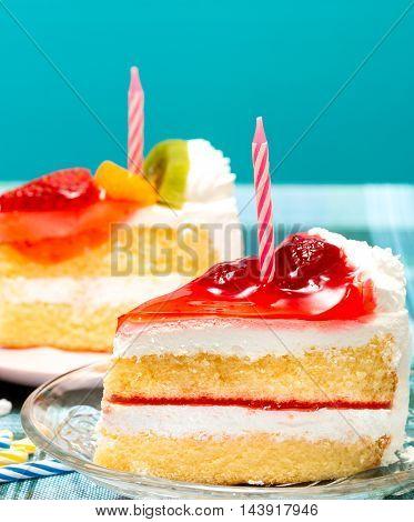 Cakes For Birthday Represents Berries Celebrates And Dessert