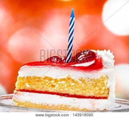 Birthday Cream Cake Indicates Creamy Fruit And Birthdays