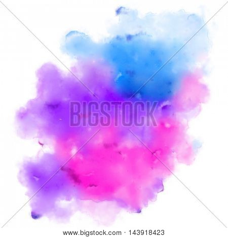 illustration of abstract colorful watercolor background for designing template for wedding,birthday,web design,promotion,banner