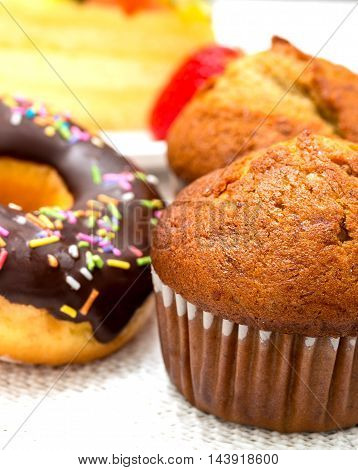 Tasty Cakes Represents Baked Cupcake And Dessert