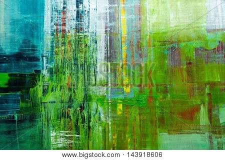 Abstract painted canvas. Oil paints on a palette. Colorful background.