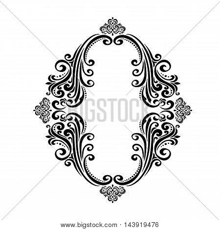 Vintage baroque frame scroll ornament engraving border floral retro pattern antique style acanthus foliage swirl decorative design element filigree calligraphy