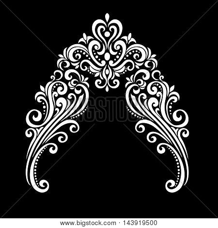 vintage baroque frame scroll ornament engraving border floral retro pattern antique style acanthus foliage swirl decorative design element filigree calligraphy - vector