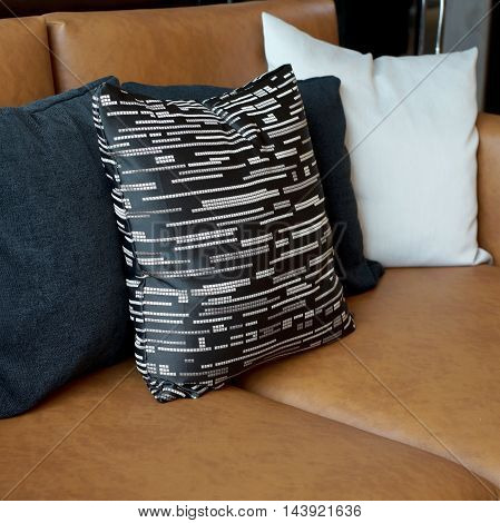 Pillows On Sofa In Living Room