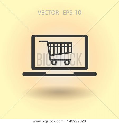 Online shopping icon
