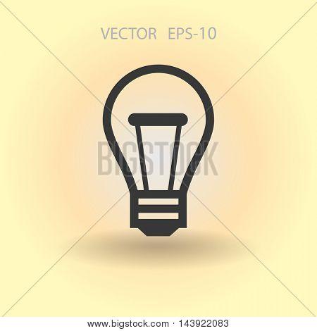 Flat icon of idea