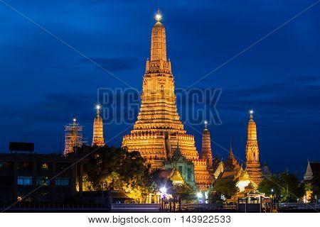 Landmark Wat Arun Temple in bangkok thailand