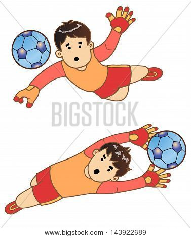 The Boy as The Goalkeeper in training 2