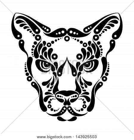 Puma tattoo, symbol decoration logo vector illustration