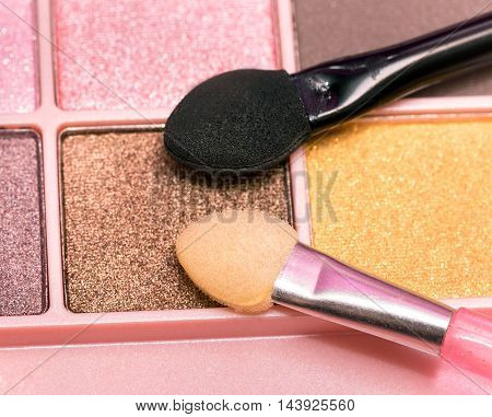 Eye Shadow Brushes Means Beauty Product And Cosmetics