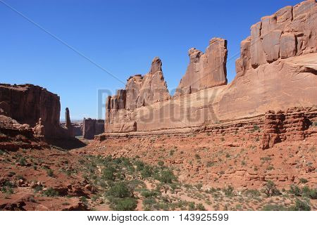 Park Avenue in the Arches National Park