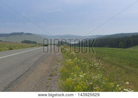 forest road in Siberia Shulgan-Tash national park