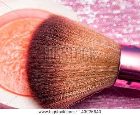 Makeup Brush Means Beauty Product And Applicators