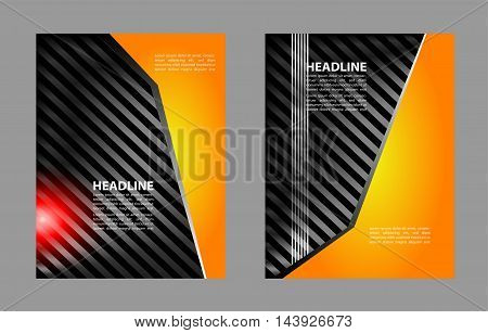 Flyer booklet template design catalog brochure folder
