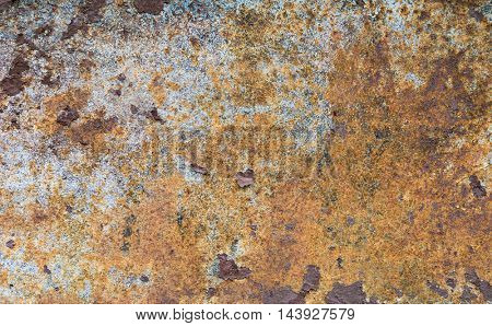 Old rusty metal plate background texture