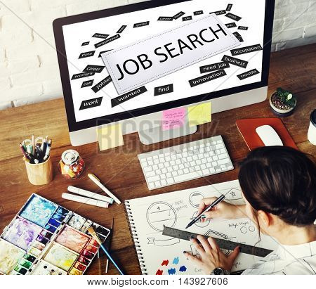 Job Search  Human Resources Employment Concept