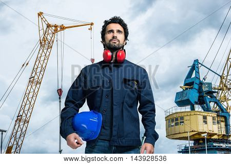 Harbor worker portrait