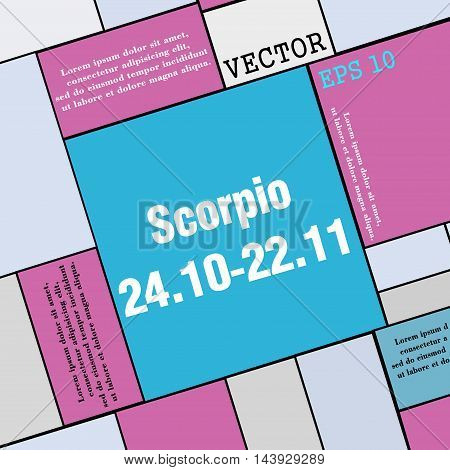 Scorpio Icon Sign. Modern Flat Style For Your Design. Vector