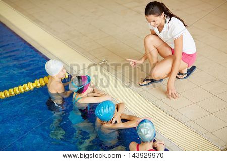 Swimming instructions