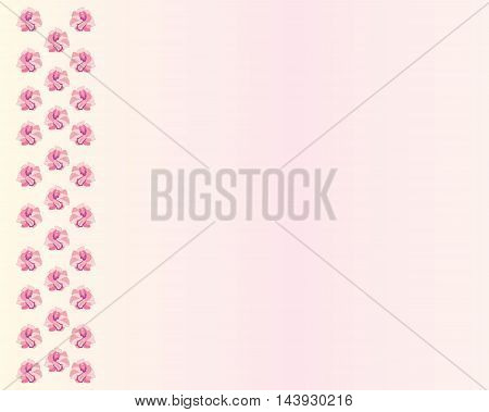 Vector background with pink exotic flowers for design