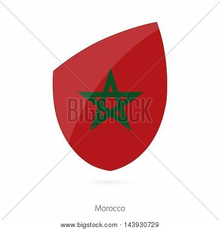 Flag Of Morocco. Morocco Rugby Flag.