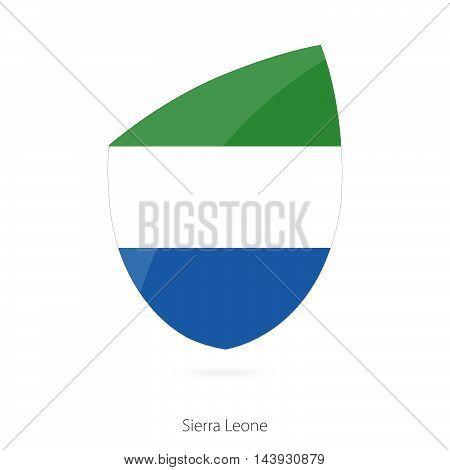 Flag Of Sierra Leone. Sierra Leone Rugby Flag.