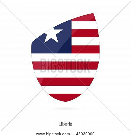 Flag Of Liberia. Liberian Rugby Flag.