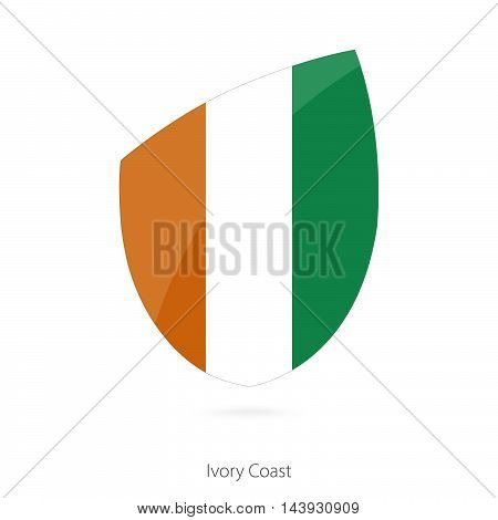 Flag Of Ivory Coast. Ivory Coast Rugby Flag.