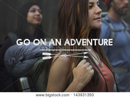 Go on Adventure Traveling Exploration Journey Concept