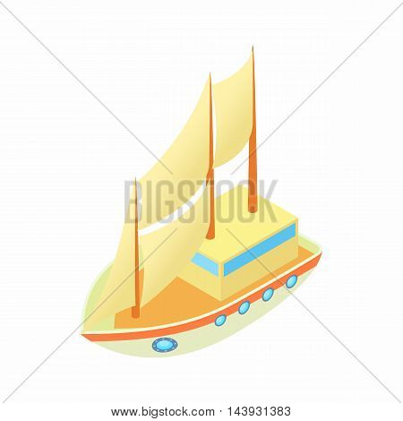 Liner icon in cartoon style isolated on white background. Sea transport symbol