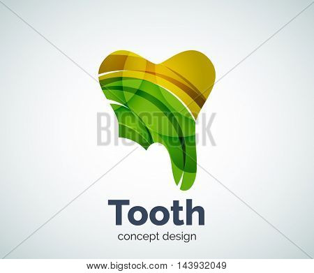 Vector tooth logo template, abstract business icon