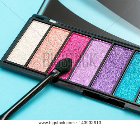 Eye Shadow Brush Indicates Make Ups And Cosmetology