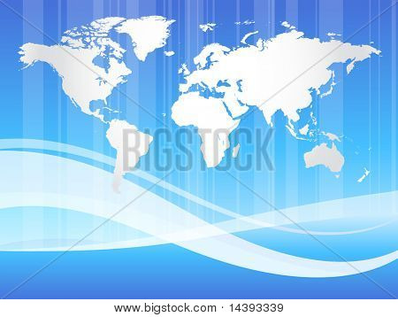 Abstract World Map Original Vector Illustration