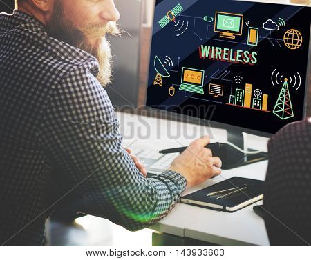 Wireless Technology Wifi Network Communication Concept
