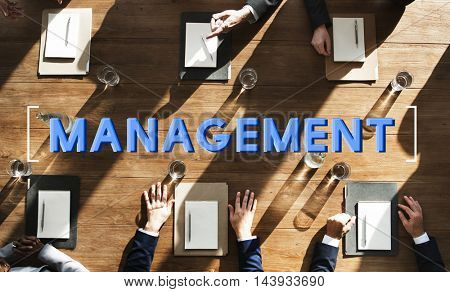 Management Business Controlling Organization Graphic Concept