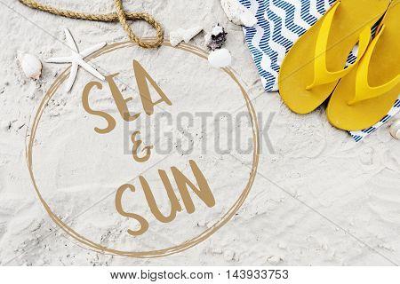 Vacation Break Beach Sea Sun Concept