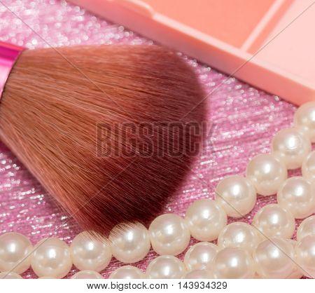 Makeup Brush Shows Eye Makeups And Brushes