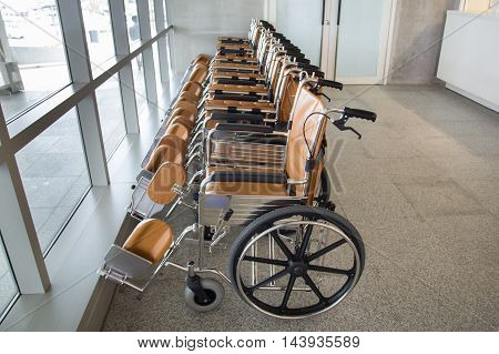 Photo of wheelchair for patient in the hospital
