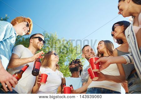 Party on sunny day