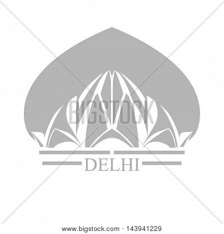 Bahai House of Worship. Lotus Temple - the symbol of India Delhi.