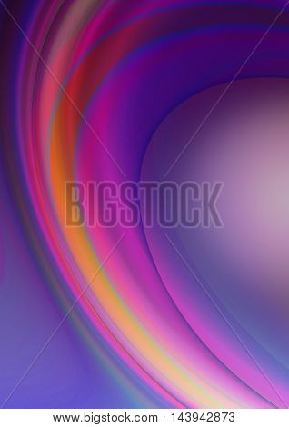 Twisted transparent,purple,orange and red stripes on illuminated purple background