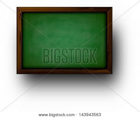 Back to school background with green blackboard. Vector illustration.