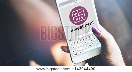 Accounting Budget Electronic Calculator Investment Concept