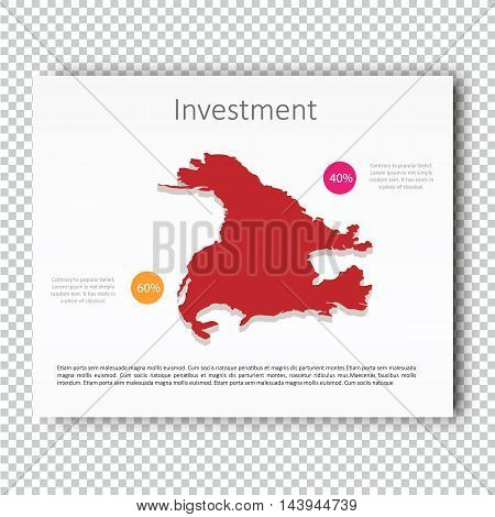 Business Investment USA Map Presentation slide Template, Business Layout design, Modern Style.. Vector.