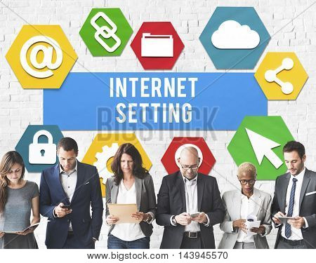 Internet Setting Gadget Control Networking Concept