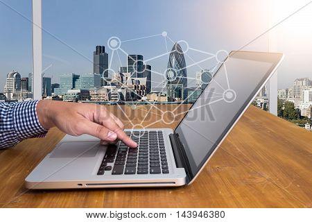 Designer Hands Working With Laptop Computer